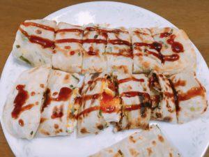 台灣風蔥油餅蛋餅