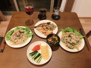 沖繩的自家居酒屋晚餐