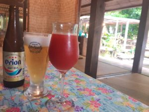 沖繩啤酒與西印度櫻桃果汁