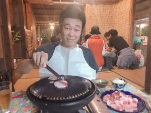 沖繩阿古豬的陶板燒(あぐー豚の陶板焼き)