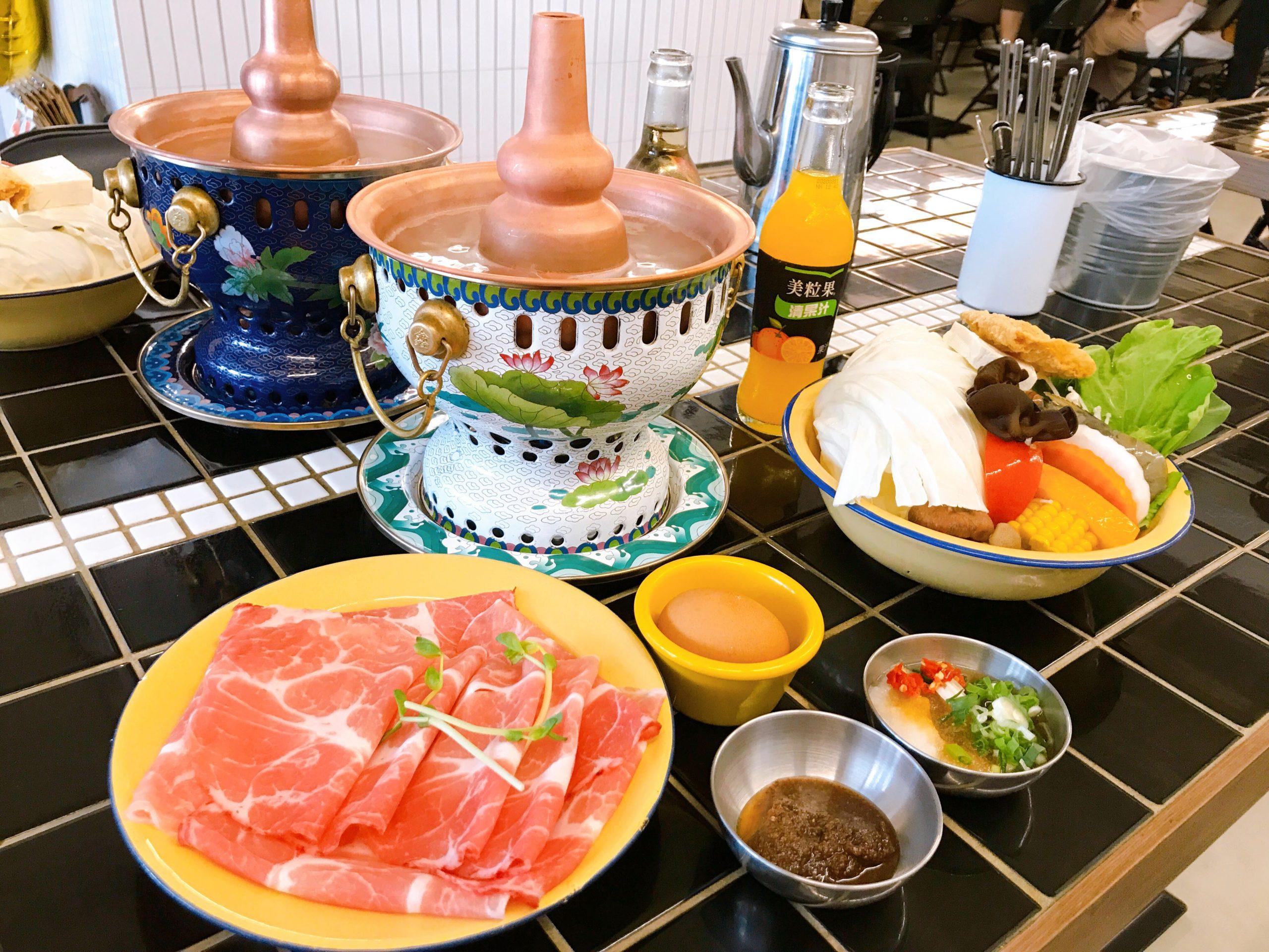 芳華火鍋公司:梅花豬肉套餐