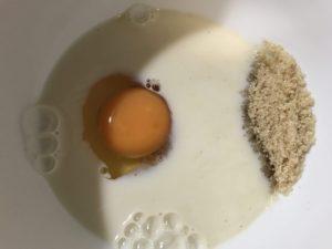 無糖豆漿、砂糖、雞蛋