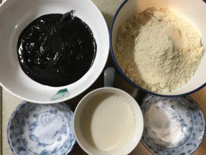 減醣版黑芝麻馬芬材料一覽