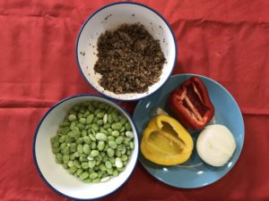 藜麥毛豆的材料