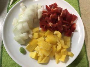 藜麥毛豆備料