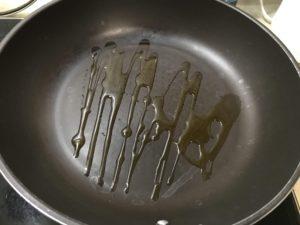 熱鍋、放油