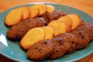 巧克力餅乾與檸檬餅乾