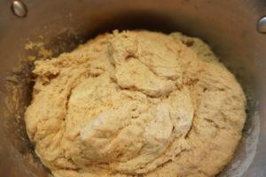 麵團靜置室溫下約一個小時回溫