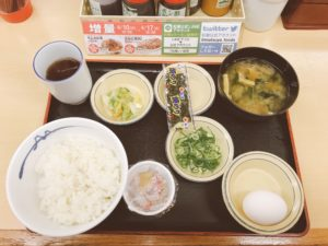 連鎖餐飲店的日式早餐